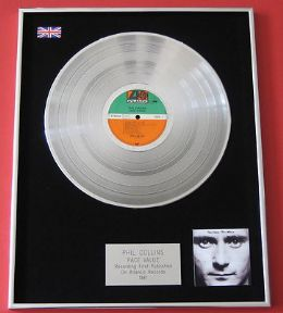PHIL COLLINS - Face Value PLATINUM LP presentation Disc